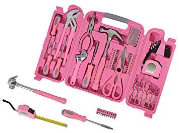 Maletín de herramientas rosa